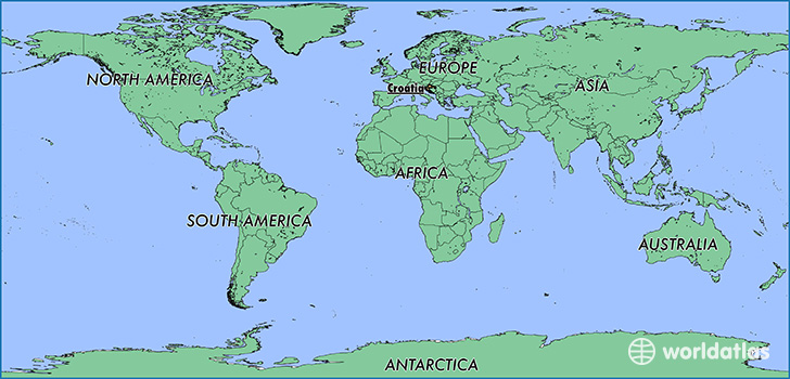 Where is croatia where is croatia located in the world croatia map showing the location of croatia gumiabroncs