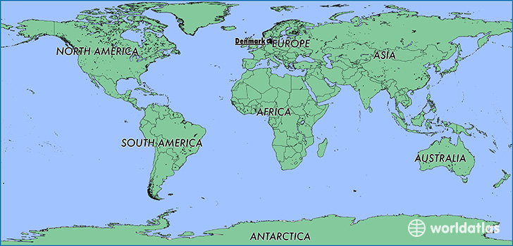where is denmark where is denmark located in the world