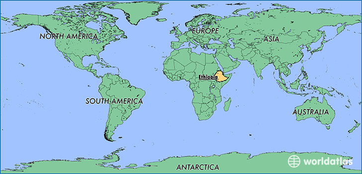 Where is ethiopia where is ethiopia located in the world map showing the location of ethiopia gumiabroncs Choice Image