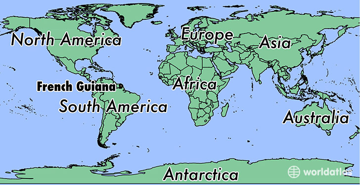 Where Is French Guiana Where Is French Guiana Located In The - South america french guiana map