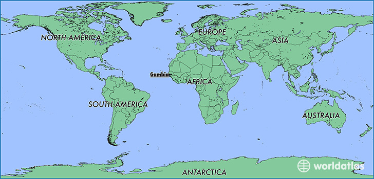 Gambia On Africa Map.Where Is The Gambia Where Is The Gambia Located In The World