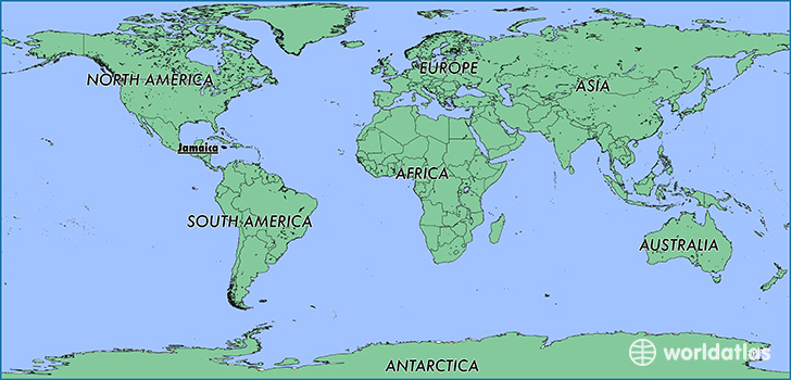 Where is jamaica where is jamaica located in the world map showing the location of jamaica sciox Images