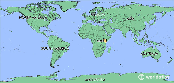 map showing the location of kenya