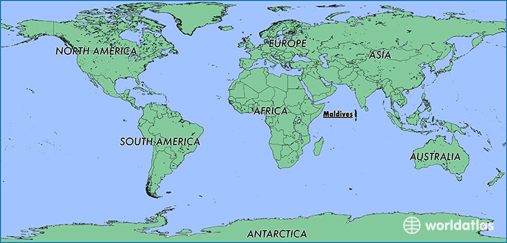 Where is maldives where is maldives located in the world map showing the location of maldives publicscrutiny Gallery