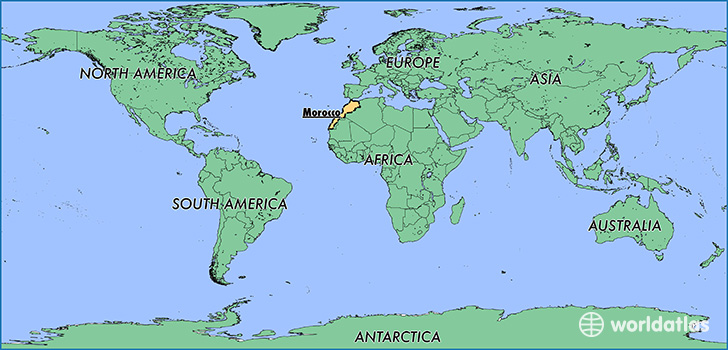 map showing the location of Morocco