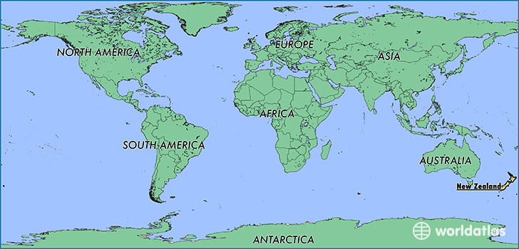 New Zealand Map On World.Where Is New Zealand Where Is New Zealand Located In The World