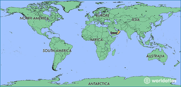 Where is Oman Where is Oman Located in The World Oman Map