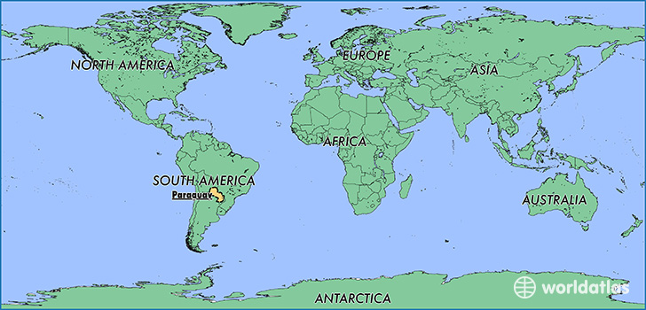 Where Is Paraguay Where Is Paraguay Located In The World - Map of paraguay world