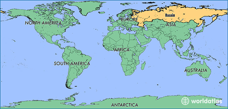 Where Is Russia Where Is Russia Located In The World Russia - Russia world map