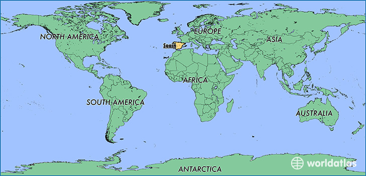 Where is spain where is spain located in the world spain map map showing the location of spain gumiabroncs