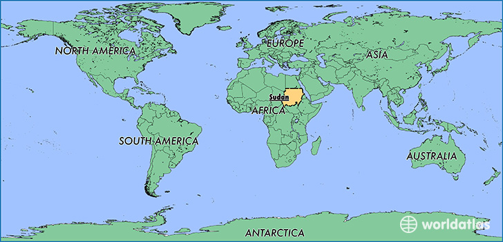 Where Is The Sudan Where Is The Sudan Located In The World - Sudan map