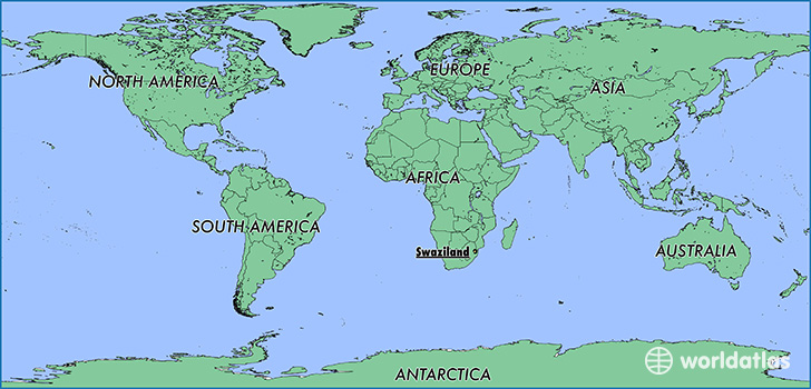 Where Is Swaziland Where Is Swaziland Located In The World - Swaziland map