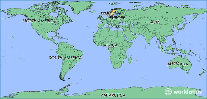 Where is sweden where is sweden located in the world sweden map showing the location of sweden sciox Choice Image