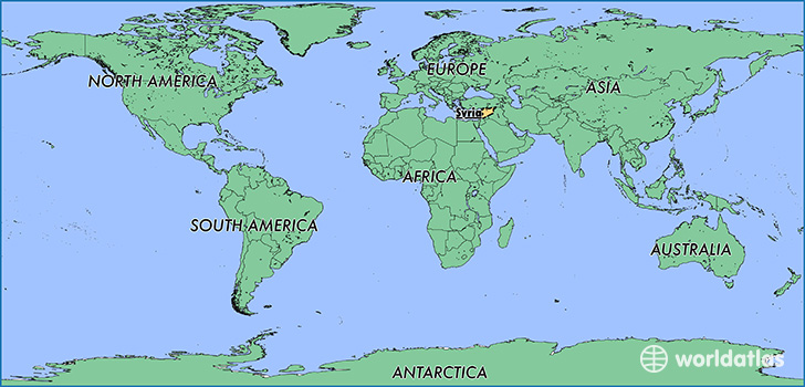 Where is Syria? / Where is Syria Located in The World? / Syria Map ...