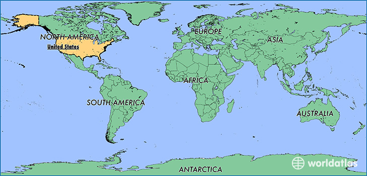 World Map United States Of America.Where Is The United States Of America Where Is The United States