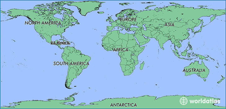 Where Is US Virgin Islands Where Is US Virgin Islands - Us map with virgin islands