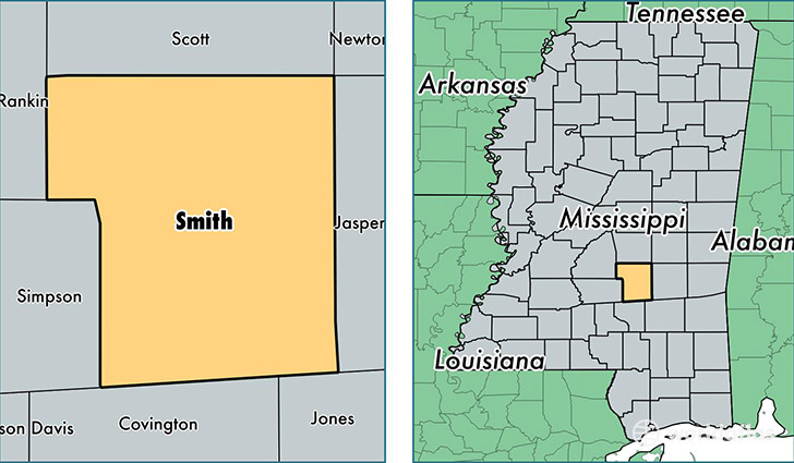 Smith County, Mississippi / Map of Smith County, MS / Where ... on leflore county map site, tyler map site, white county map site,