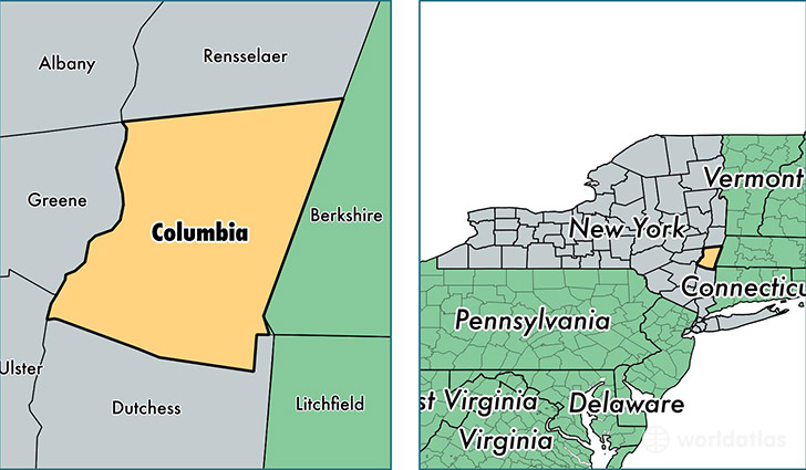 Columbia County New York Map Of Columbia County NY Where Is - Columbia us map