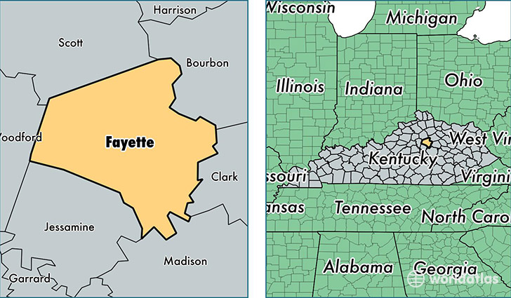 Fayette County, Kentucky / Map of Fayette County, KY / Where