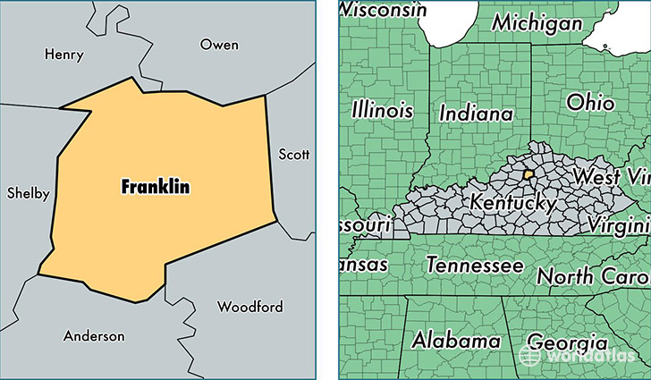 Franklin County Kentucky Map Of Franklin County Ky Where Is