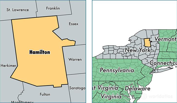 Hamilton County Ny Map Hamilton County, New York / Map of Hamilton County, NY / Where is