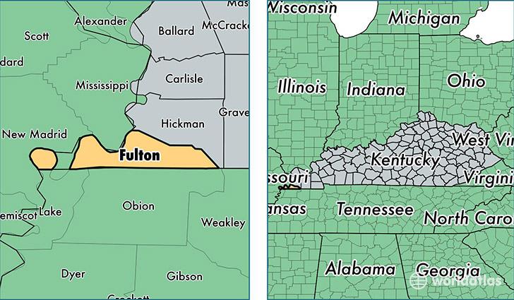 Fulton County, Kentucky / Map of Fulton County, KY / Where is Fulton ...