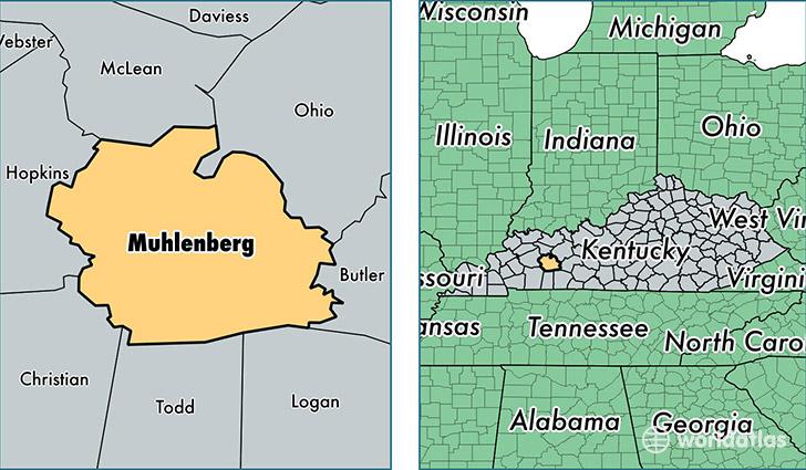 Muhlenberg County, Kentucky / Map of Muhlenberg County, KY / Where ...