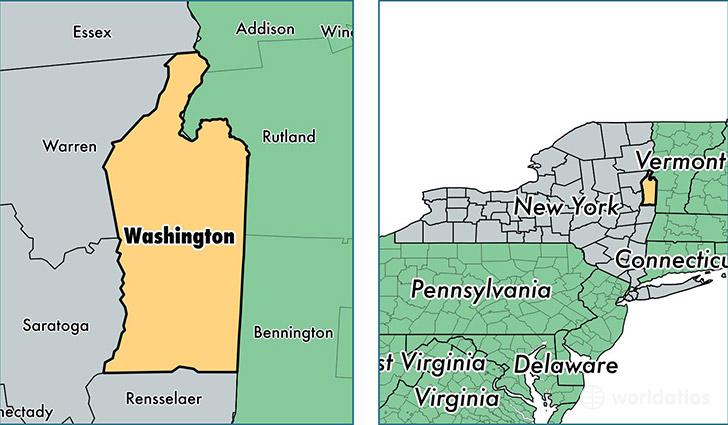 Washington County New York  Map Of Washington County NY
