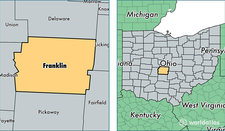 Franklin County Ohio Map Of Franklin County Oh Where Is