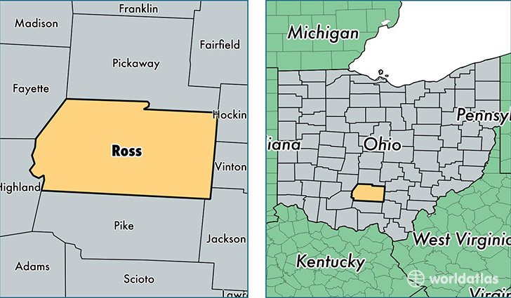 Ross County Ohio Map Of Ross County Oh Where Is Ross County