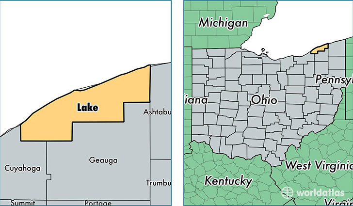 Lake County Ohio  Map Of Lake County OH  Where Is Lake