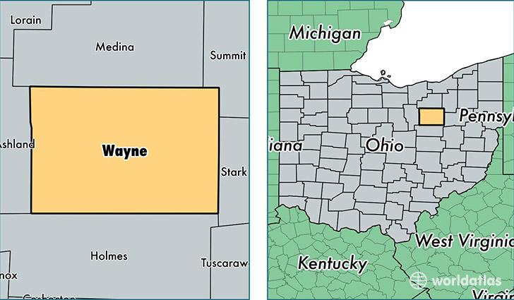 Map Of Wayne County Ohio on