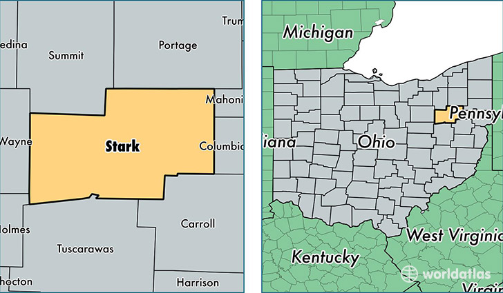 1223-stark-county-ohio Map With All Of The Major Attractions United States on