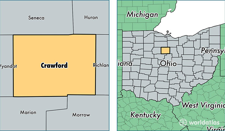 location of Crawford county on a map