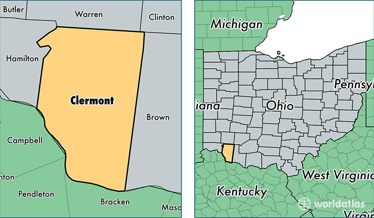 Clermont County, Ohio / Map of Clermont County, OH / Where is