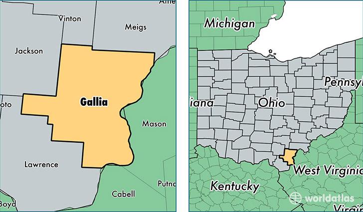31 model Gallipolis Ohio Map