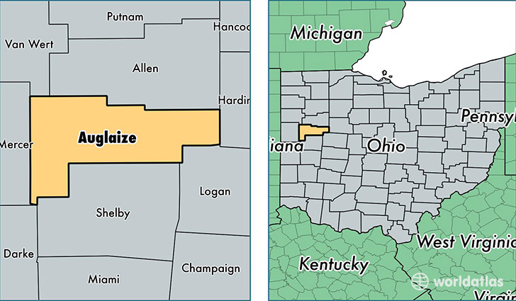 Auglaize County Ohio Map Of Auglaize County Oh Where Is