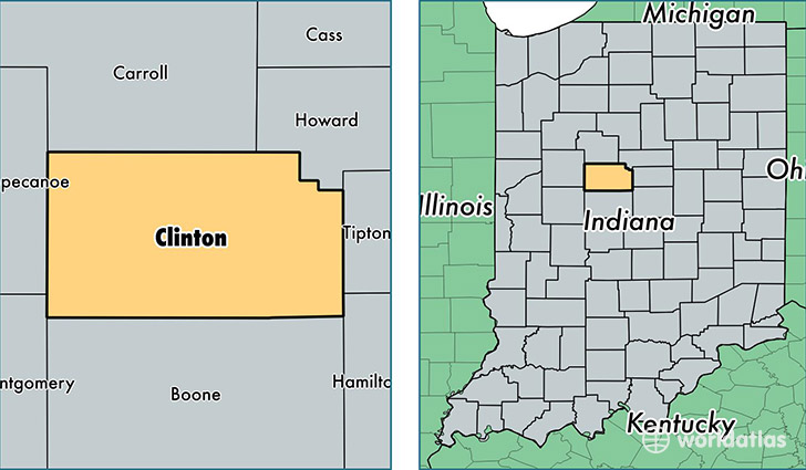 Clinton County Indiana Map Of Clinton County In