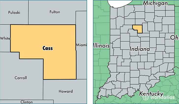 Cass County, Indiana / Map of Cass County, IN / Where is Cass County?