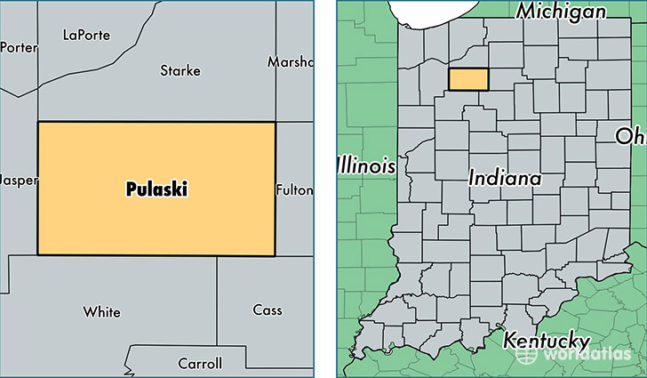 location of Pulaski county on a map
