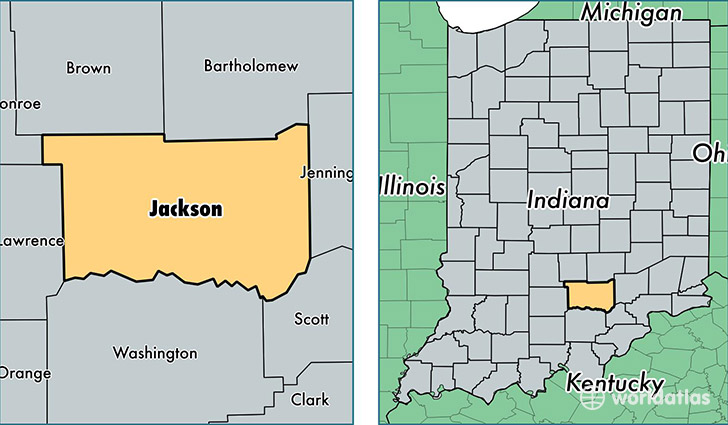 Jackson County Indiana Map Of Jackson County IN Where Is - Indiana map usa