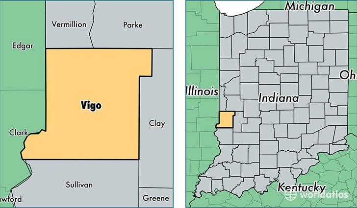 Vigo County Indiana Map Of Vigo County In Where Is