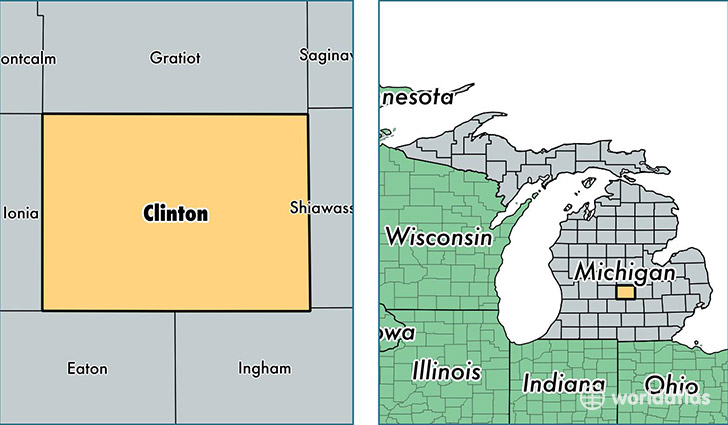Ovid Michigan Map.Clinton County Michigan Map Of Clinton County Mi Where Is