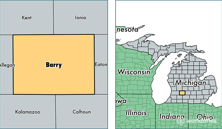 location of Barry county on a map