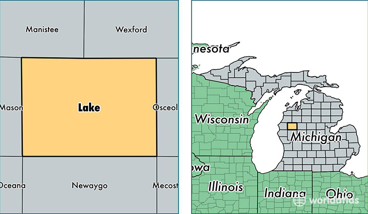 Lake County, Michigan / Map of Lake County, MI / Where is ... on