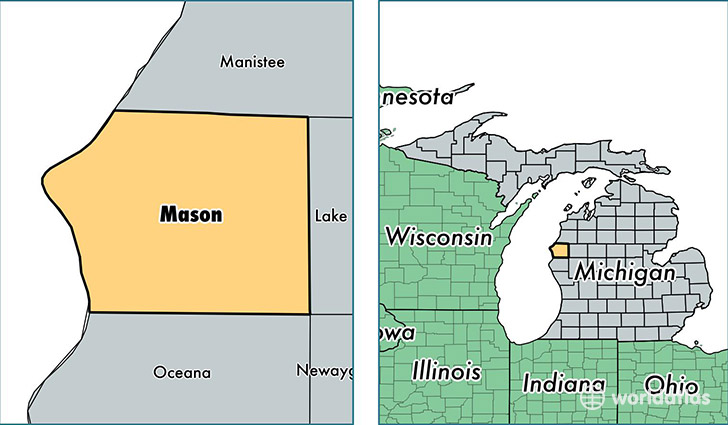 location of Mason county on a map