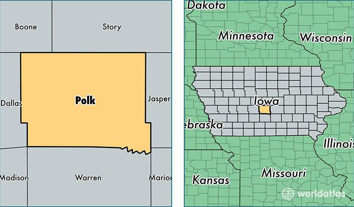 Polk County Iowa Map Of Polk County IA Where Is Polk County - Polk us map