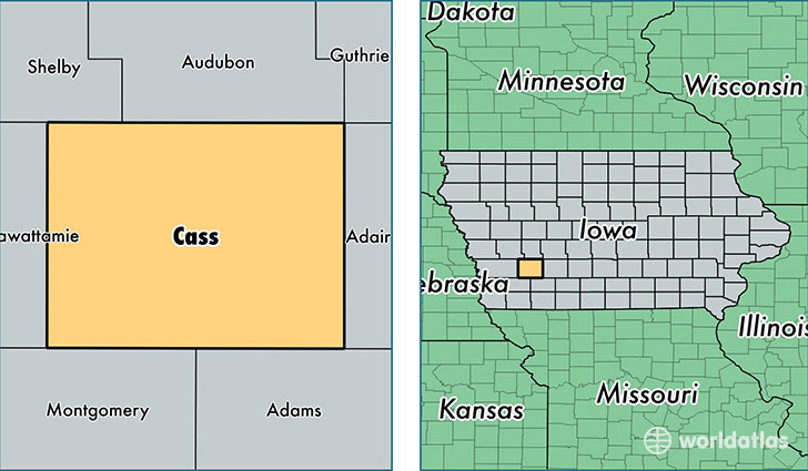 Cass County, Iowa / Map of Cass County, IA / Where is Cass County?