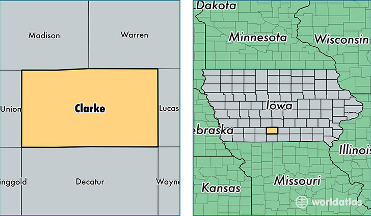 location of Clarke county on a map