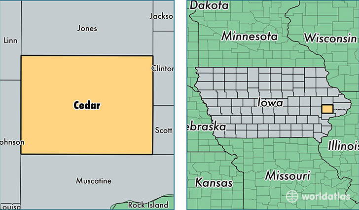Cedar County, Iowa / Map of Cedar County, IA / Where is Cedar County?